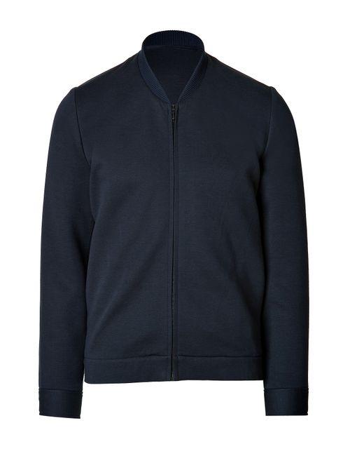Clemens en August | Мужское Синий Cotton Zip-Up Baseball Jacket Gr. S