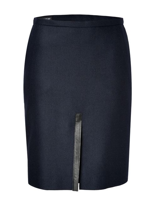 Clemens en August | Женское Синий Wool-Cashmere Blend Pencil Skirt Gr. 34