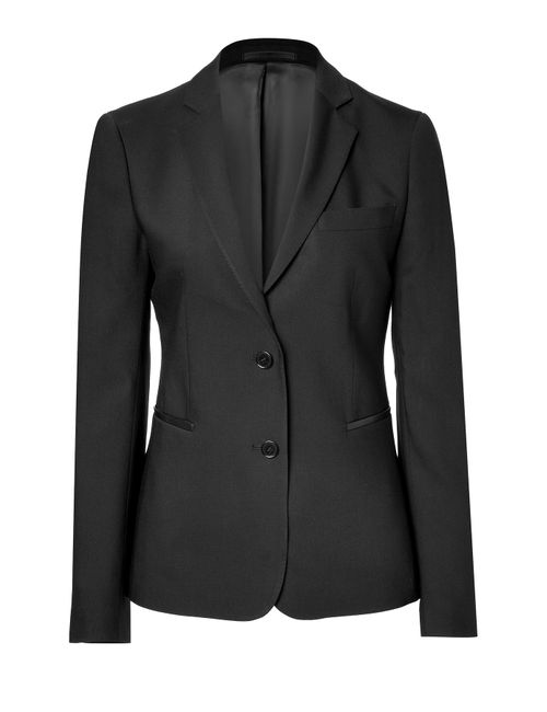 Clemens en August | Женское Черный Tailored Blazer With Leather Trim Gr. 34