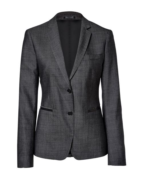Clemens en August | Женское Tailored Blazer With Leather Trim Gr. 34