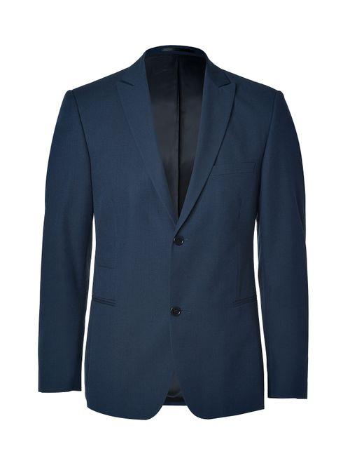 Clemens en August | Мужское Синий Slim Wool-Cotton Blazer Gr. 46