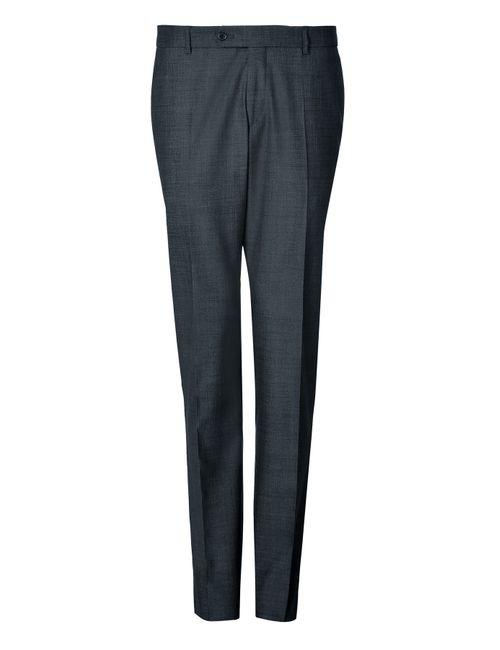 Clemens en August | Мужское Синий Wool-Silk Trousers Gr. 46
