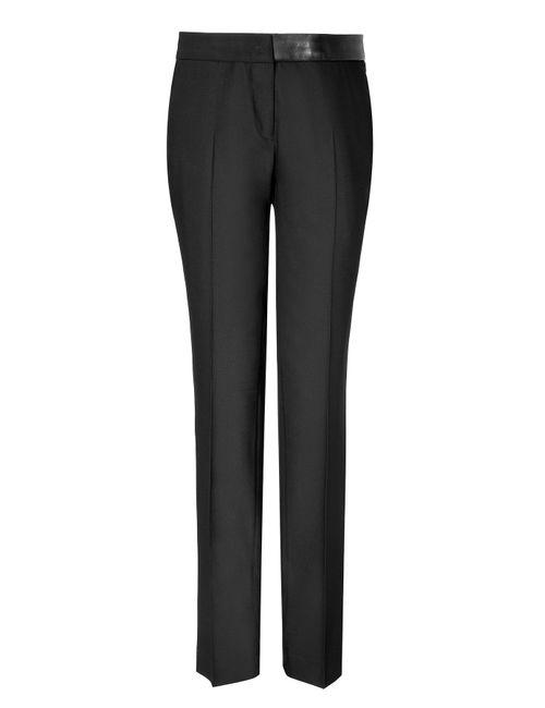 Clemens en August | Женское Чёрный Slim Wool Trouser Gr. De 38