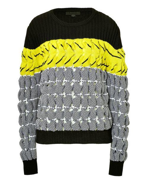 Alexander Wang   Женское Многоцветный Textured Knit Colorblock Pullover Gr. S