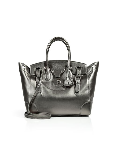 Ralph Lauren Collection | Женское Зелёный Metallic Leather Soft Ricky Tote Gr. One