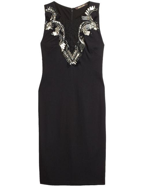 Roberto Cavalli | Женское Чёрный Embellished Dress With Lace Gr. 34