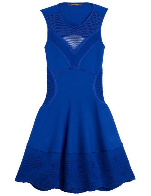Roberto Cavalli | Женское Синий Flared Knit Dress With Mesh Gr. 36