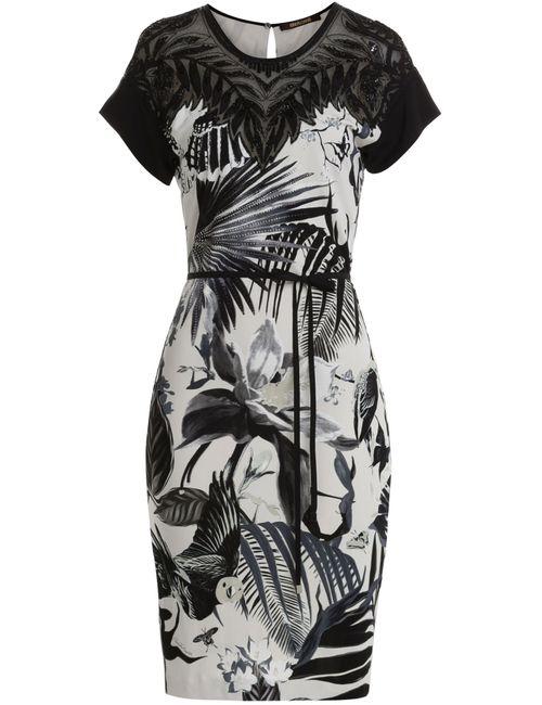 Roberto Cavalli | Женское Цветочный Embellished Printed Dress Gr. It 40