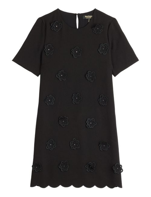 Juicy Couture | Женское Чёрный Crepe Dress With Floral Applique Gr. 40