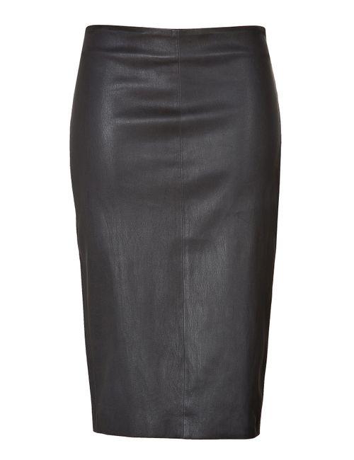 Brunello Cucinelli | Женское Чёрный Leather Pencil Skirt Gr. S