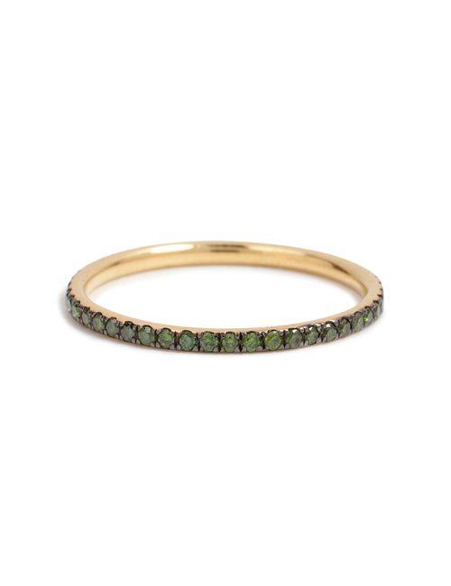 Ileana Makri | Женское Многоцветный 18k Yellow Gold Ring With Green Diamonds