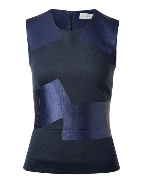 Victoria Beckham Denim | Женское Синий Satin Panel Sleeveless Top Gr. 8