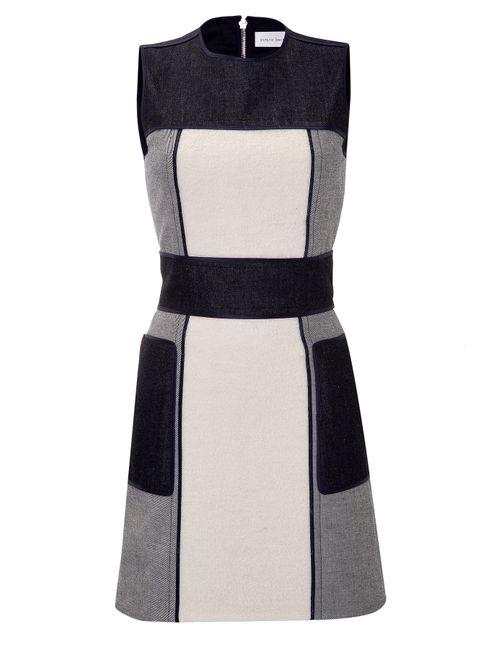 Victoria Beckham Denim | Женское Многоцветный Patchwork Denim Dress Gr. 8