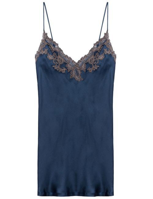 La Perla   Синий Lace Embellished Slip Dress Gr. L