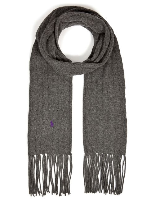 Polo Ralph Lauren | Женское Серый Merino Wool-Cashmere Cable Knit Scarf Gr. One