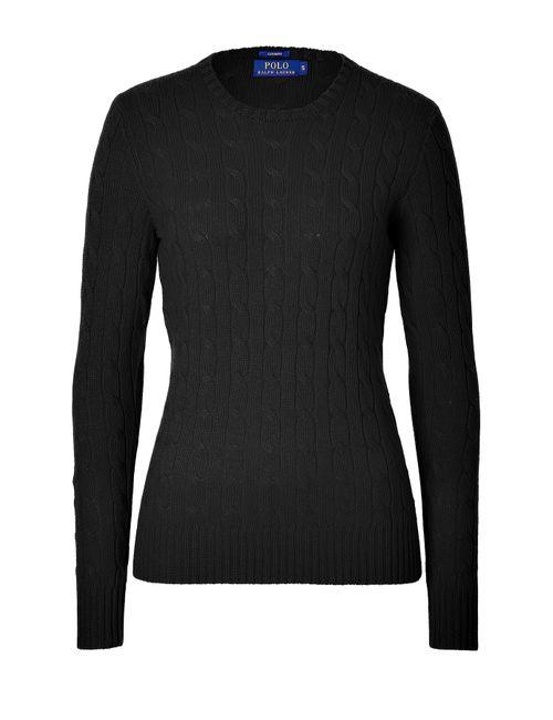 Polo Ralph Lauren | Женское Черный Cashmere Cable Knit Pullover Gr. M