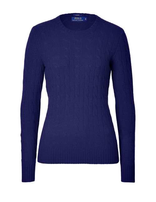 Polo Ralph Lauren | Женское Синий Cashmere Cable Knit Pullover Gr. S