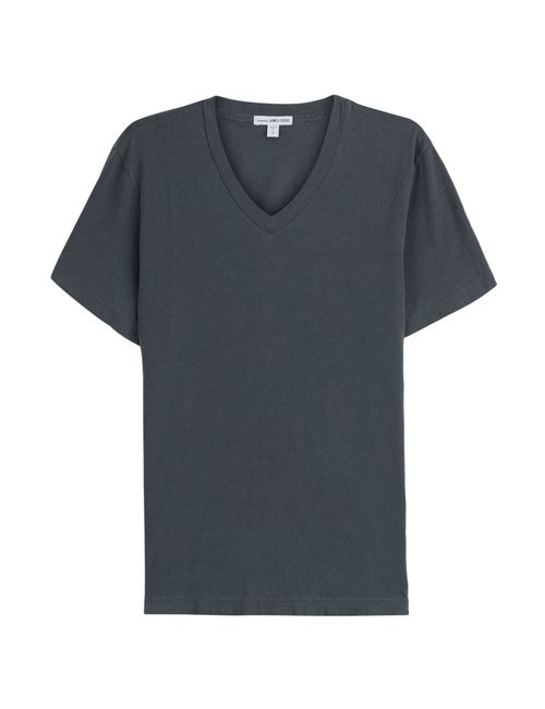 James Perse | Мужское Синий Cotton T-Shirt Gr. 2