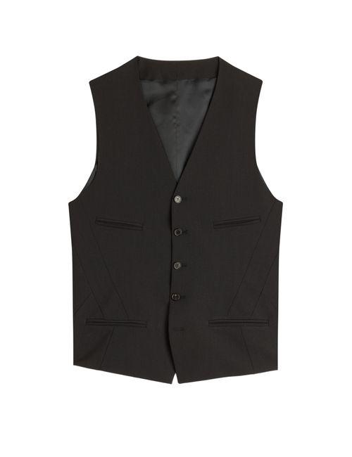 Neil Barrett | Pinstriped Wool Blend Vest Gr. 46