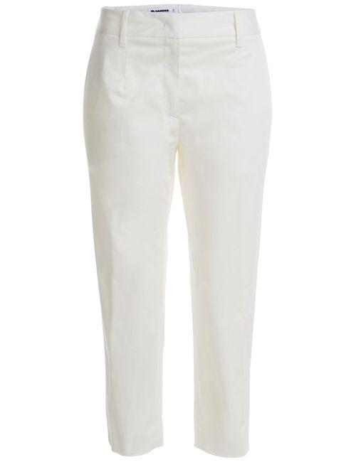 Jil Sander | Женское Бежевый Stretch Cotton Cropped Trousers Gr. De 38