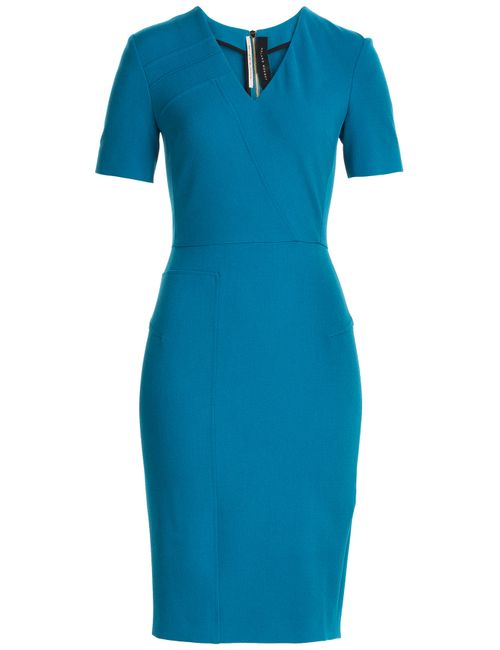 Roland Mouret | Женское Türkis Merevale Crepe Dress Gr. 8