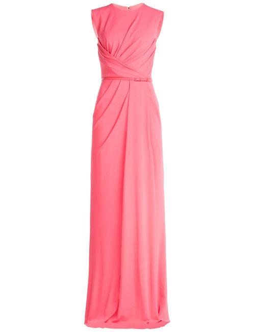 Elie Saab | Женское Розовый Draped Twill Evening Gown Gr. Fr 38