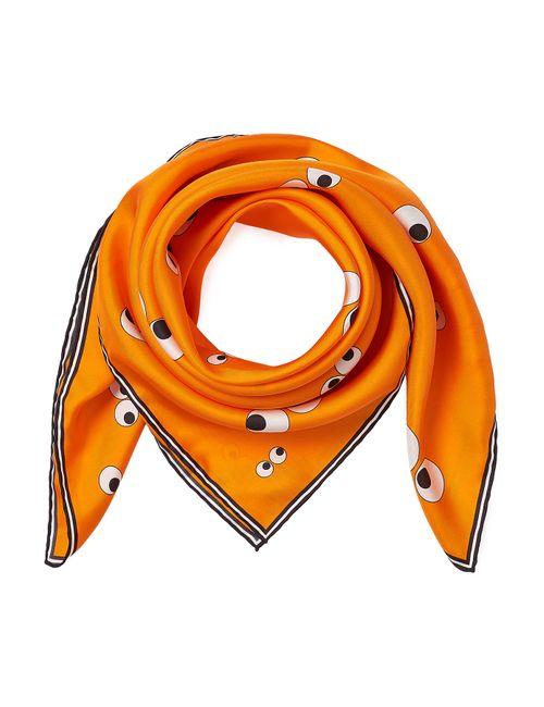 Anya Hindmarch | Женское Оранжевый Printed Silk Scarf Gr. One Size
