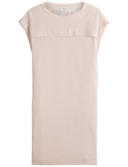 Brunello Cucinelli | Женское Rose Silk T-Shirt Dress Gr. S