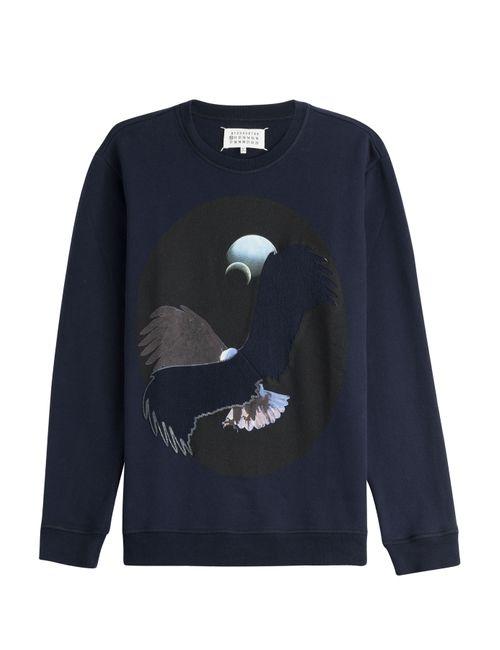 Maison Margiela | Синий Printed Cotton Sweatshirt Gr. 48