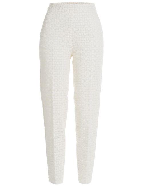Giambattista Valli | Женское Белый High Waist Macrame Trousers Gr. 34