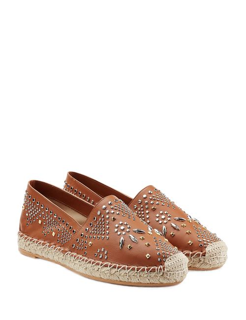 Valentino | Camel Teodora Leather Espadrilles Gr. It 40