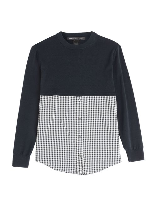 Marc by Marc Jacobs | Синий Sweater Button-Down Combo Top Gr. M