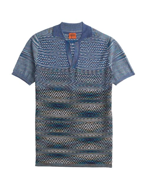 Missoni | Мужское Синий Cotton Polo Shirt Gr. 46