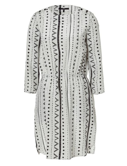 Tibi | Женское 100% Silk Silver Grey Drawstring Silk Dress Gr. 36