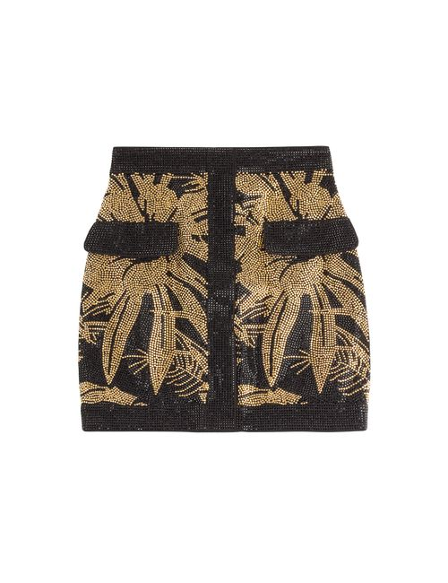 Balmain | Женское Золотой Embellished Mini Skirt Gr. Fr 40