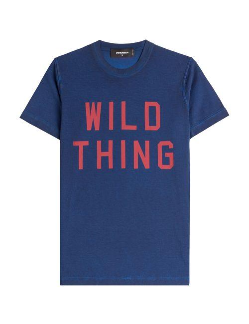 Dsquared2 | Мужское Синий Printed Cotton T-Shirt Gr. S