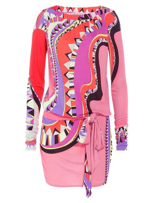 Emilio Pucci   Женское Многоцветный Printed Silk-Blend Mini-Dress Gr. It 44