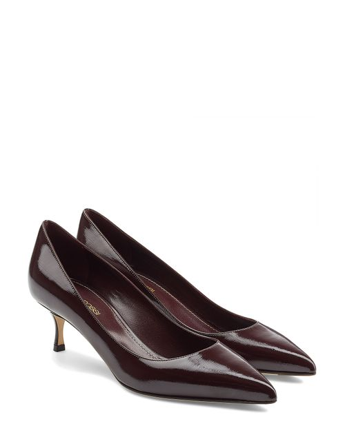 Sergio Rossi | Женское Коричневый Patent Leather Kitten Heel Pumps Gr. It