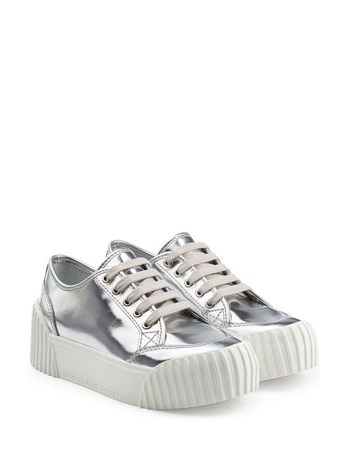 Marc by Marc Jacobs | Женское Серебристый Riley Metallic Leather Platform Sneakers Gr. It