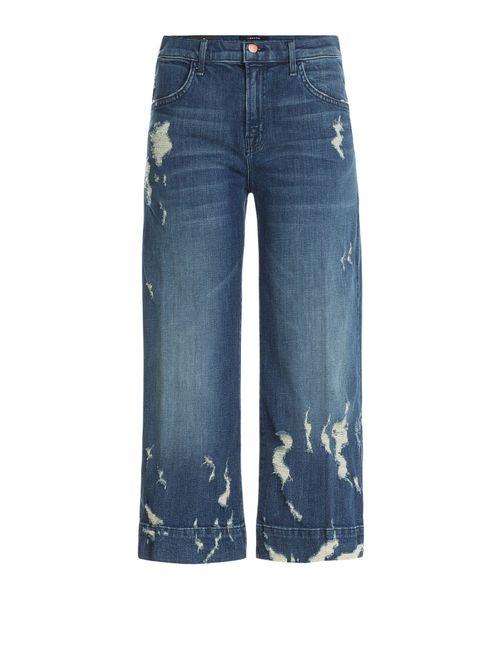J Brand Jeans | Синий Wide Leg Cropped Jeans Gr. 32
