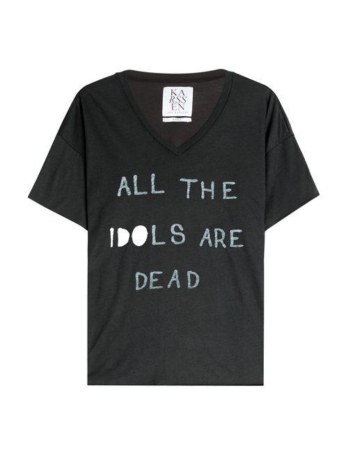 Zoe Karssen | Женское Черный Printed Jersey T-Shirt Gr. S