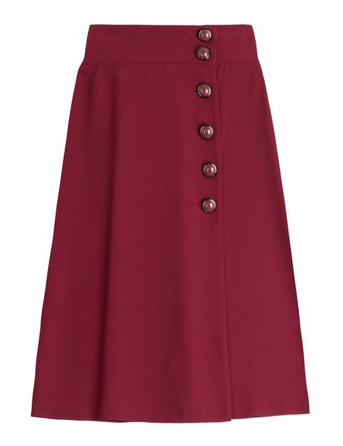 Red Valentino | Женское Красный Over-The-Knee Skirt With Statement Buttons Gr. It