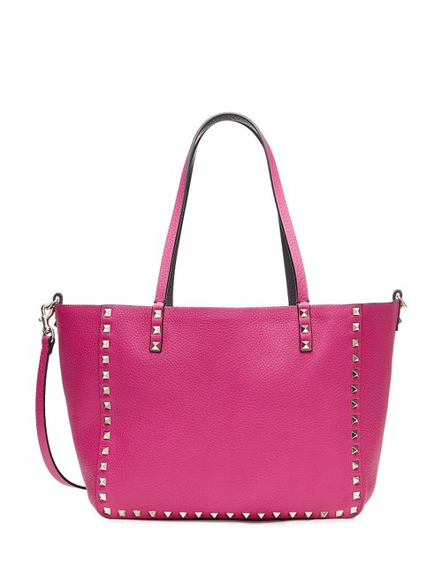 Valentino | Женское Розовый Reversible Leather Rockstud Tote With Shoulder Strap