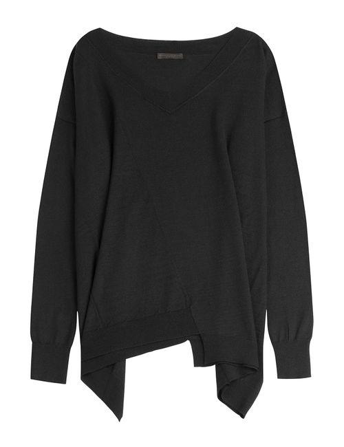 Donna Karan New York | Женское Черный Cashmere Top With Asymmetric Hem Gr. Xs