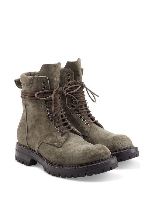 Rick Owens | Мужское Зелёный Suede Combat Boots Gr. 41