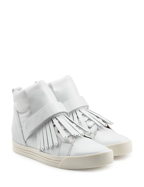 Marc Jacobs | Женское Белый Leather High-Top Sneakers With Tassel Fringe Gr.
