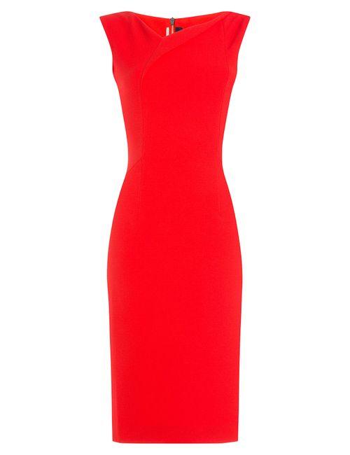 Roland Mouret | Женское Красный Crepe Dress Gr. Uk 10
