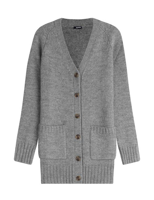 Jil Sander Navy | Женское Серый Wool Cardigan Gr. S