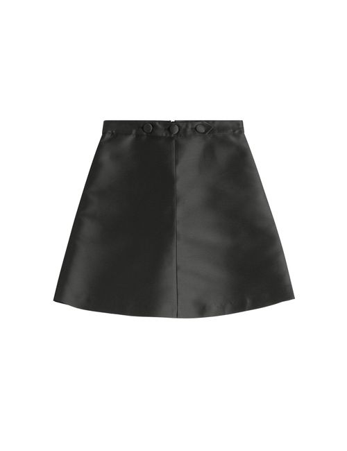 Red Valentino | Женское Чёрный Satin Skirt Gr. It 38
