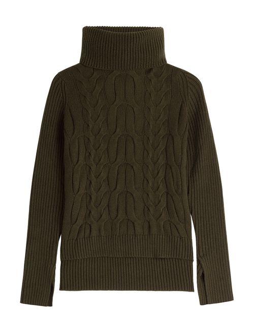 Alexander McQueen | Женское Зелёный Cashmere-Silk Turtleneck Pullover Gr. S